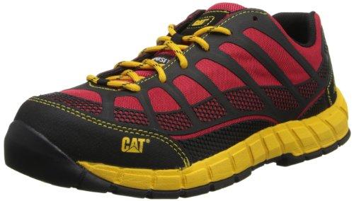 Caterpillar Men's Streamline Comp Toe Running Shoe,Red/Yellow,10 M US by Caterpillar