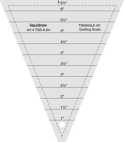 Liquidraw Triangle Quilting Ruler, Clear Acrylic Template, Imperial (30° 9.5