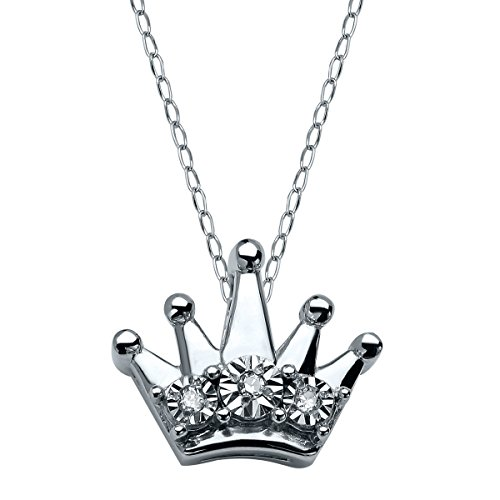 Diamond Accent Crown Necklace - 7