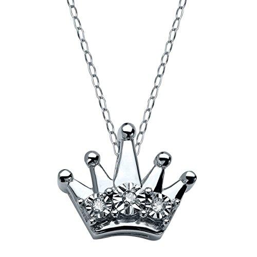 Diamond Accent Crown Necklace - 8