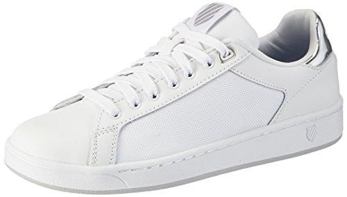 K-suisse Damen Tribunal Propre Wei? Sneaker Fcm (blanc / Argent 133)