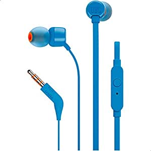JBL T110 In Ear Headphone, Blue