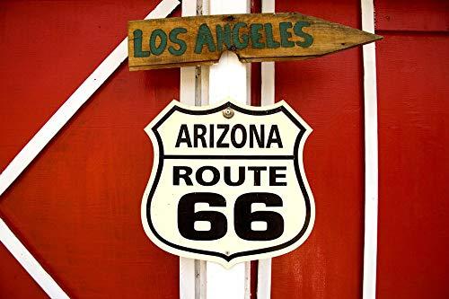 (Home Comforts Framed Art for Your Wall Carol M Highsmith USA Seligman Route 66 Arizona Vivid Imagery 10 x 13 Frame)