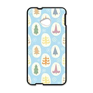 Canting_Good,colorful trees, Custom Case for HTC One M7(Laser Technology)