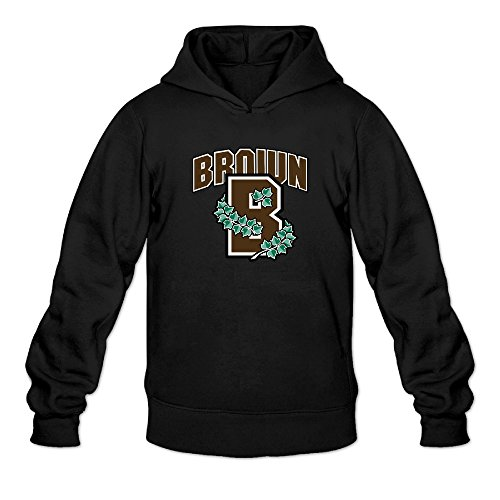 Pool University Vinyl - DVPHQ Men's Classic Brown University B Logo Hooded Sweatshirt Size S Black