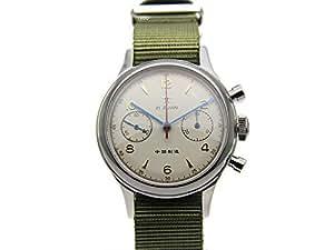 Seagull ST19 Movt Wrist Watch Mens Pilot Chronograph Sapphire Glass Mechanical