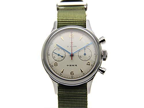 Seagull ST19 Movt Wrist Watch Mens Pilot Chronograph Sapphire Glass ()