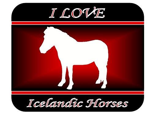Love Icelandic Horse - I Love Icelandic Horses Mouse Pad - Red