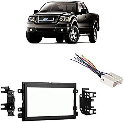 compatible with ford f 150 2004 2006 double din stereo harness radio install dash kit silverado engine harness 2006 ford f 150 stereo wiring harness #8