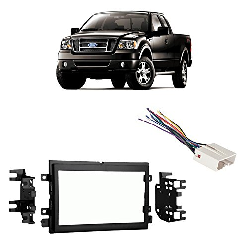 - Fits Ford F-150 2004-2006 Double DIN Stereo Harness Radio Install Dash Kit