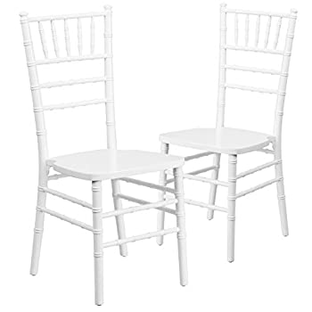 Flash Furniture 2 Pk. HERCULES Series White Wood Chiavari Chair