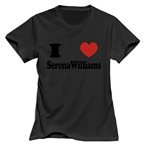 LXQL1 I Love Serena Williams T-shirt For Men - XL Black Hot 100% Cotton Black T Shirt For Adult