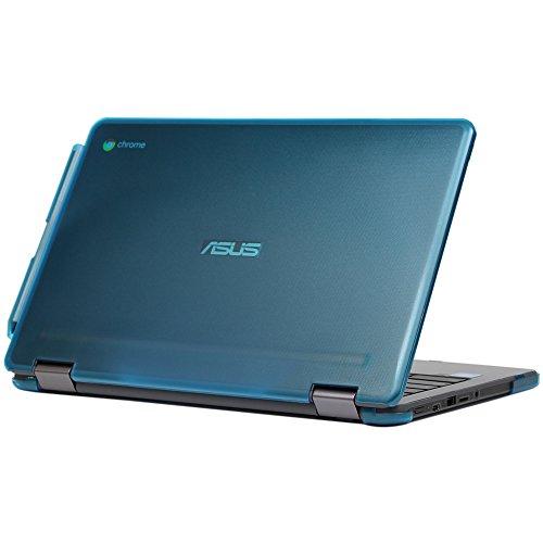 mCover Hard Shell Case for 11.6-inch ASUS Chromebook Flip C213SA Series Laptop - Aqua