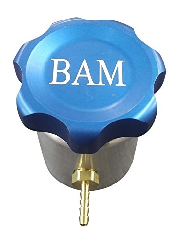 CNC Billet Filler cap w/Aluminum weld-on fill neck- & /Brass Barbed vent fitting - Made in the USA! ()