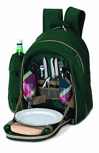 UPC 807348110787, 2 Person Complete Picnic Backpack with 17 accessories Wine Bottle Holder