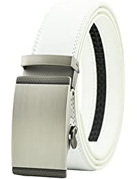 QISHI YUHUA Belt Men's Leather Ratchet Belt