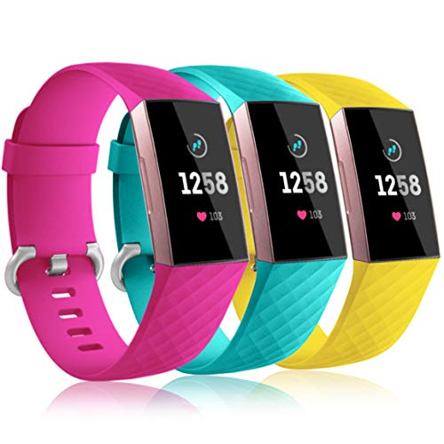 Maledan Bands Compatible with Fitbit Charge 3, Replacement