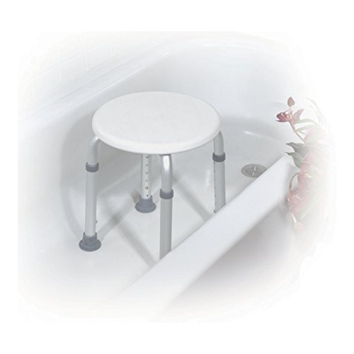 Drive-Medical-Adjustable-Height-Bath-Stool-White