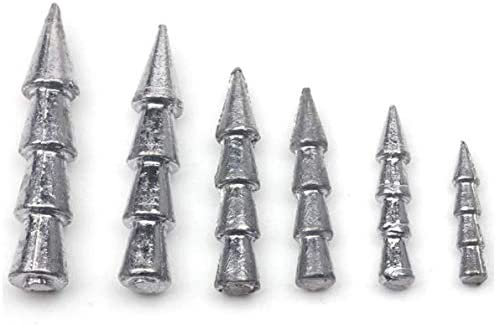 0.5//1gTungsten Worm Fishing Insert Weight Pagoda Wacky Nail Pencil Sinker JKUS