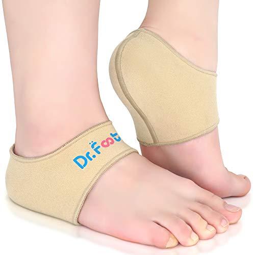 Dr. Foot's Heel Protectors, Heel Sleeves for Relieve Heel Pain from Plantar Fasciitis, Heel Spur, Cracked Heels from Dr.Foot