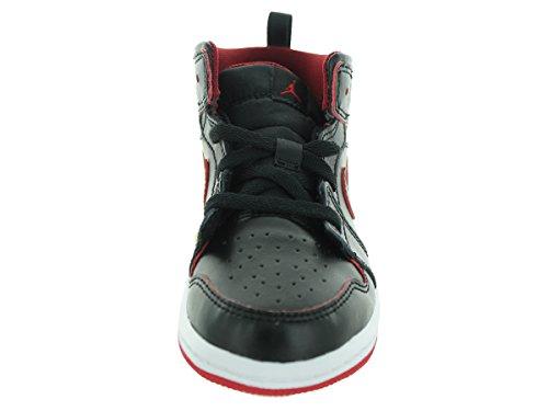 Nike Unisex Baby Jordan 1 Mid Bt Sneaker Schwarz / Weiß / Rot (Schwarz / Schwarz-Weiß-Gym Red)