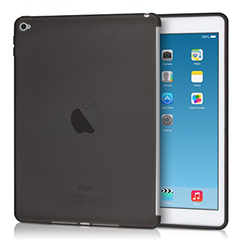 kwmobile TPU silicon case (compatible with smart cover) for Apple iPad Air 2 in black - tablet protective case clear cover (Cover Back Shell Plastic)