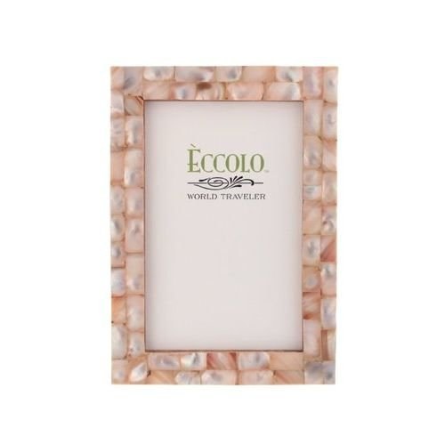 Eccolo World Traveler Naturals Collection Mother-of-Pearl Frame, Holds 8 by 10-Inch Photo, Pink