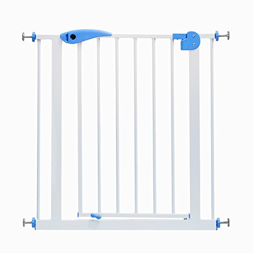 Extra Tall And Wide Pet Baby Gates For Doorways Stair Play Yard White Metal Dog Cat Door,82-200cm Wide ,Height 100cm (Size : (127 Flap)