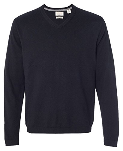 Weatherproof Vintage Cotton Cashmere V-Neck Sweater. 151377 - Large - (Cashmere Vintage Sweater)