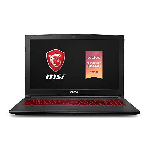 "MSI GV62 8RD-275 15.6"" Performance Gaming Laptop NVIDIA GTX 1050Ti 4G, Intel Core i5-8300H, 8GB, 256GB NVMe SSD, Red Backlit KB, Win 10 Home, Aluminum Black (Renewed)"