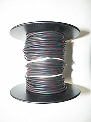 Black/Red Striped Automotive Copper Wire, GXL, 18 GA, AWG, GAUGE. Truck, Motorcycle, RV. General Purpose. 2 DEFFERENT LENGTHS, SELECT LENGTH BELOW