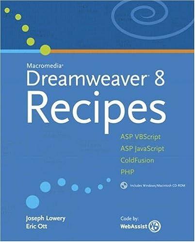 macromedia dreamweaver 8 recipes joseph lowery eric ott rh amazon com
