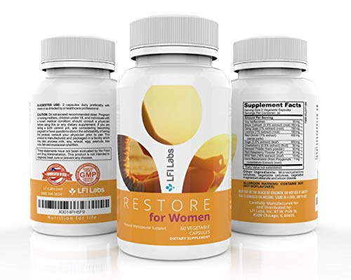 Menopause Relief Support Supplement for Women - Black Cohosh, Dong Quai, Soy Isoflavones, Red Clover - Estrogen Metabolism Complex to Balance Hormones, Relieve Hot Flashes – Vegetarian & Gluten Free by LFI Labs (Image #3)