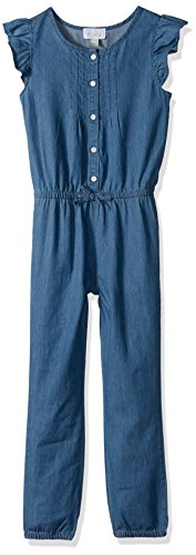 The Children's Place Toddler Girls' Her Li'l Chambray Jumpsuit, Chambray, 4T