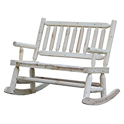 Amazon.com : Wooden Rocking Chair With Natural Material Comfortable  Oversized Patio Furniture, Double VIVA16027 : Garden U0026 Outdoor