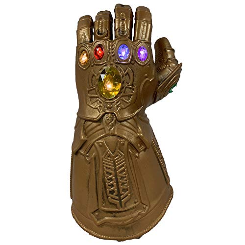 Latex Gauntlets - ZhangHD Thanos Toy Thanos Infinity Gauntlet Latex Gloves Cosplay Props (with LED Light-up Function) Brown