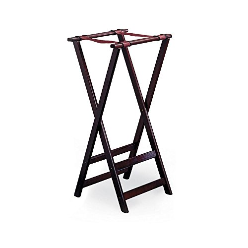 Tall Wood Tray Stand - 8