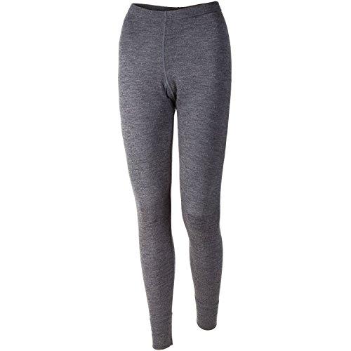 Elementex Merino Wool Women's Midweight Base Layer Bottom - Charcoal (Midweight Wool Long Underwear)