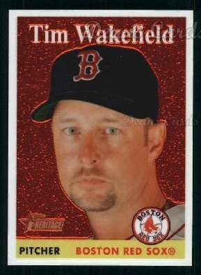 2007 Topps Heritage Chrome # 76 Tim Wakefield Boston Red Sox (Baseball Card) Dean's Cards 8 - NM/MT Red Sox