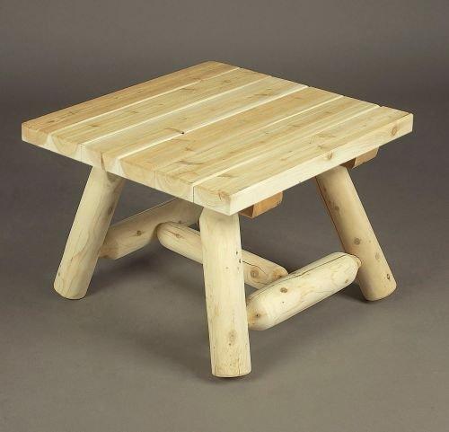 Rustic Natural Cedar Furniture 24'' Square Coffee Table - 2016 Design by Rustic Natural Cedar Furniture
