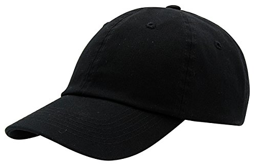 BRAND NEW 2016 Classic Plain Baseball Cap Unisex Cotton Hat For Men & Women Adjustable & Unstructured For Max Comfort Low Profile Polo Style  Unique & Timeless Clothing Accessories By Top Level, Black, One Size