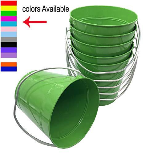 Italia 6-Pack Metal Bucket 1.5 Quart Color Green Size 5.6 X 6