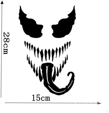 Fensteraufkleber Autoaufkleber Auto-Styling Vinyl Aufkleber Kunst Sto/ßstange Autoaufkleber Black Venom Dekoration Wanddekorative reflektierende K/örperaufkleber Autoaufkleber Aufkleber 2 St/ück