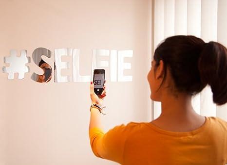 Tu selfie lettere adesivi specchio specchio w retro adesivo