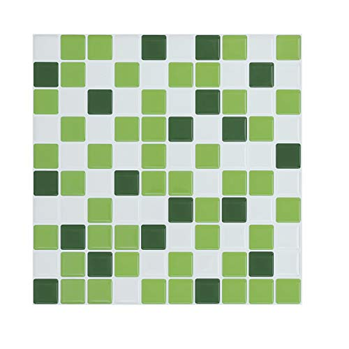 - Peel and Stick Wall Tile,Green Kitchen Backsplash Tiles Peel and Stick Wall Stickers(4 Sheets)