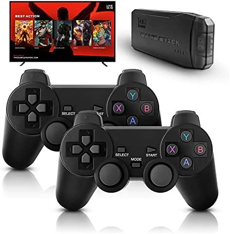 M8 Retro Game Console, Built-in 10000+ Games, Wireless 4K HDMI Plug and Play Video Game Stick, 2 Wireless Gamepads – 64G