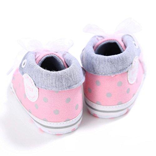 Tefamore Zapotos Zapatillas de deporte Antideslizante Suave Único del niños de lentejuelas Rosa