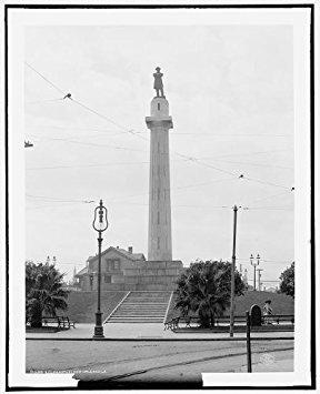 Photo: Robert E Lee Monument,sculpture,statues,monuments,New Orleans,Louisiana,LA,c1906