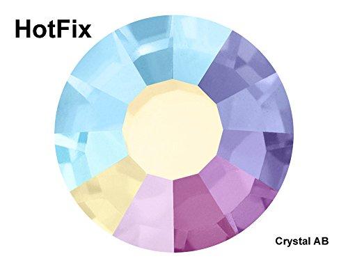 10ss Rose (Preciosa Genuine Czech Crystals, 1440pcs in ss10 (2.8mm), HOTFIX Crystal AB, Viva Chaton Roses (Viva12 Rhinestone Flatbacks), 10ss)