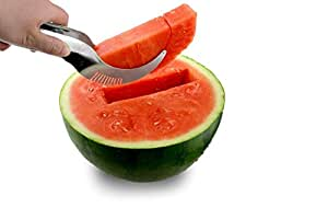 Perfect Easy Quick Cutter Watermelon Slicer Corer Server Stainless Steel Melon Slicer